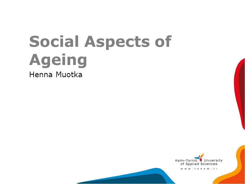 Social Aspects of Ageing