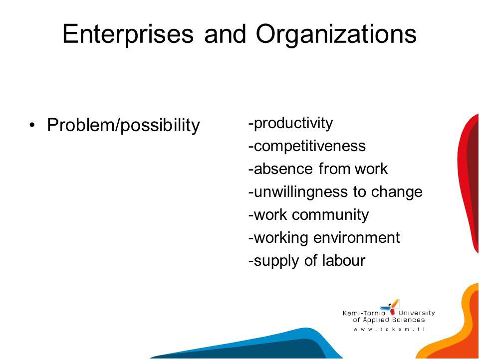 Enterprises and Organizations