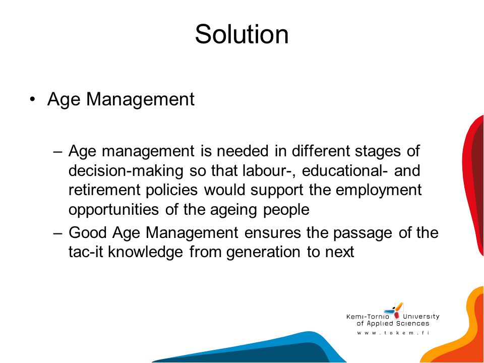 Solution Age Management
