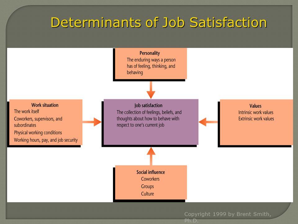Determinants of Job Satisfaction