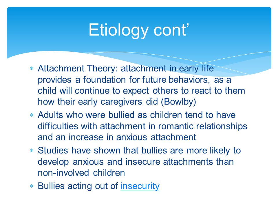 Etiology cont'
