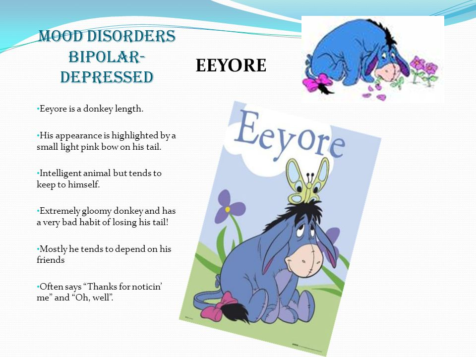 MOOD DISORDERS BIPOLAR- DEPRESSED