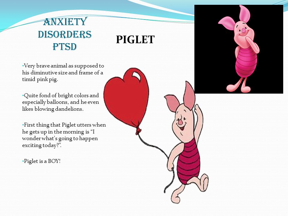 ANXIETY DISORDERS PTSD