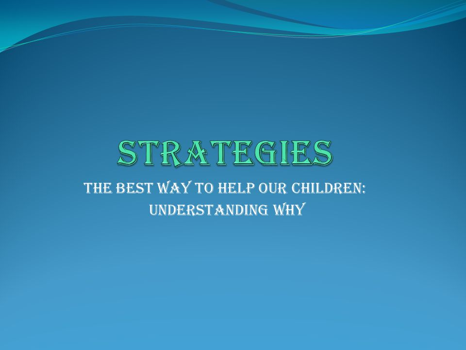 The best way to help our children: