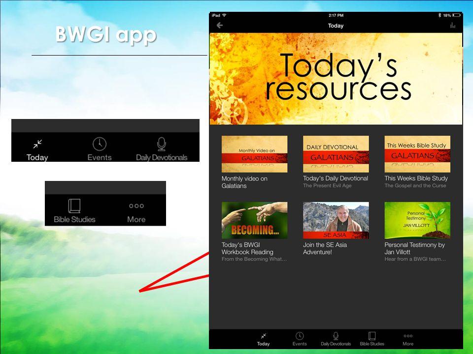 BWGI app