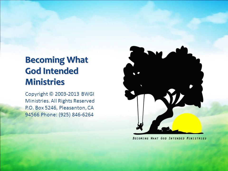 Becoming What God Intended Ministries