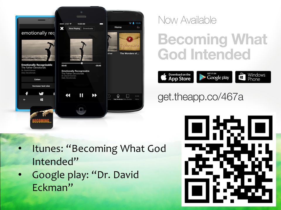 Itunes: Becoming What God Intended