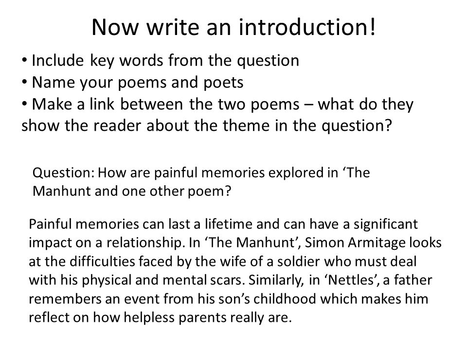 Now write an introduction!