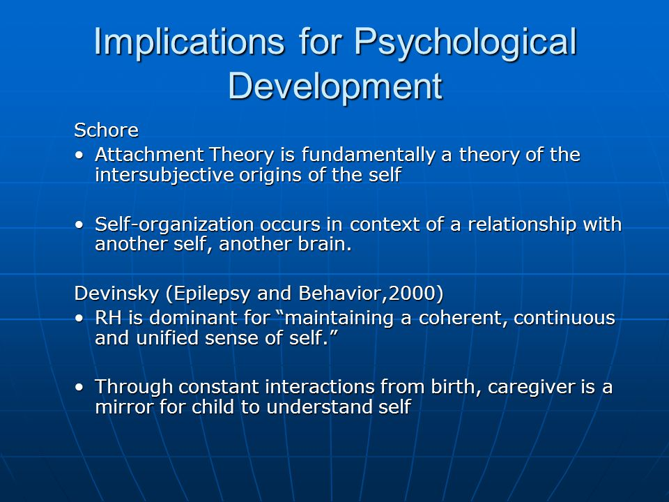 Implications for Psychological Development