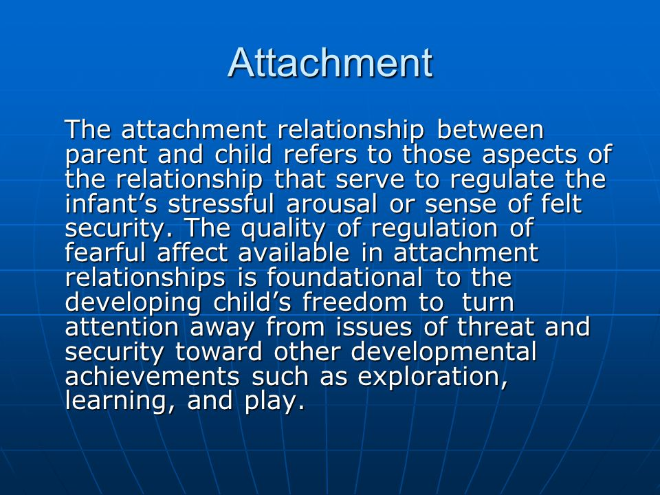 attachment theory and the mother infant relationship Attachment theory 1 attachment theory for infants and toddlers childcare policies to support the early attachment relationships of children[9] although it is usual for the mother to be the primary attachment figure, infants will form attachments to any caregiver who is sensitive and.