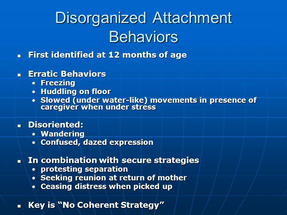 Disorganized Attachment Behaviors