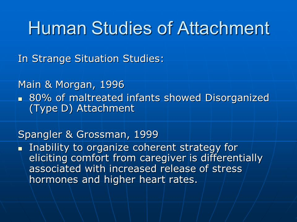 Human Studies of Attachment