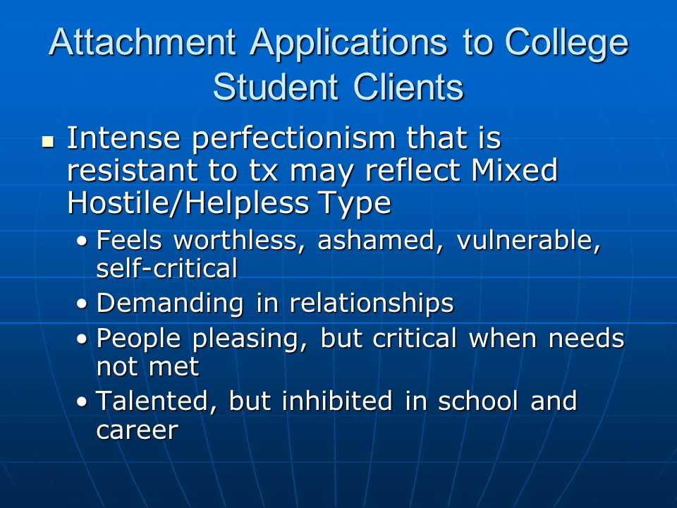 Attachment Applications to College Student Clients