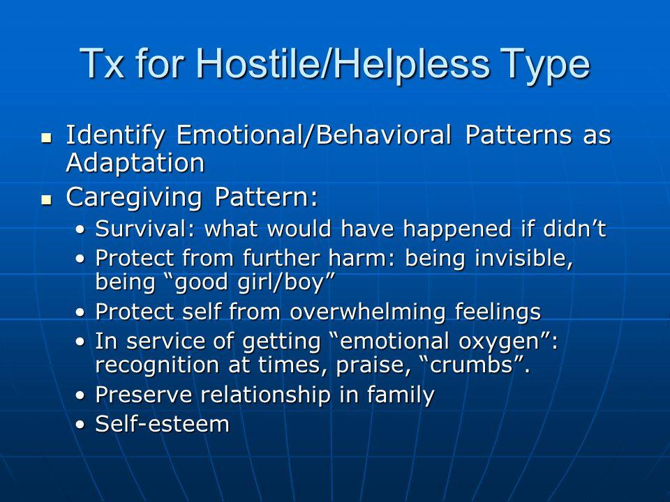 Tx for Hostile/Helpless Type