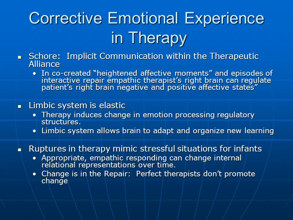 Corrective Emotional Experience in Therapy