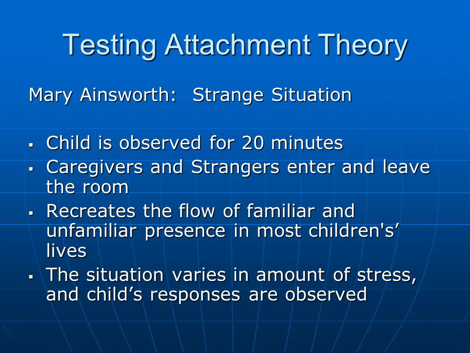 Testing Attachment Theory