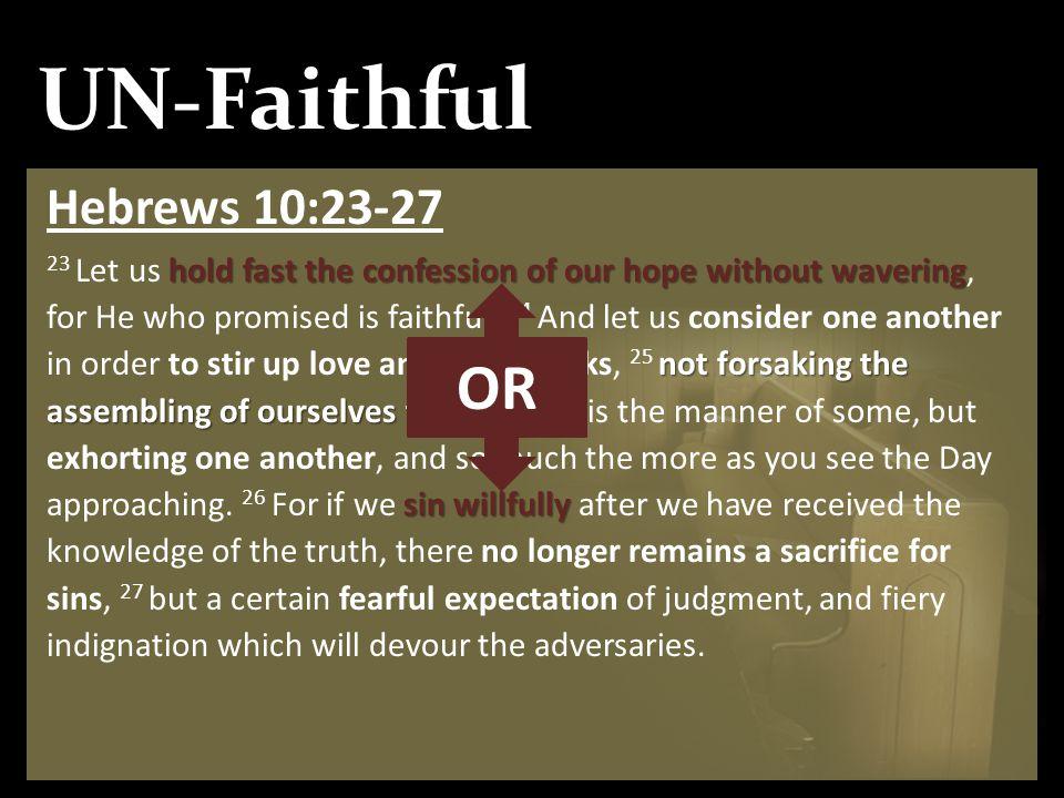 UN-Faithful OR Hebrews 10:23-27