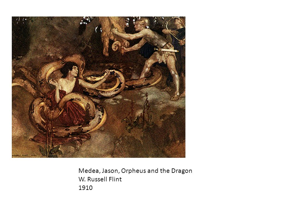 Medea, Jason, Orpheus and the Dragon W. Russell Flint 1910