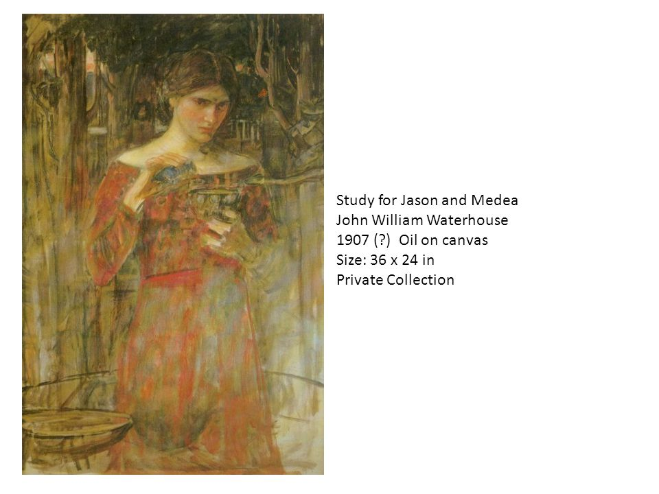 Study for Jason and Medea John William Waterhouse 1907 (