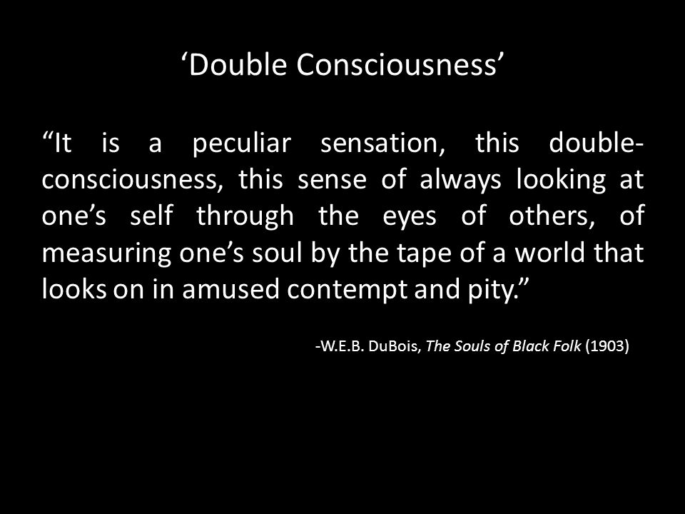 'Double Consciousness'