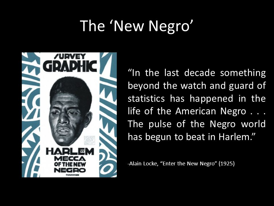 The 'New Negro'