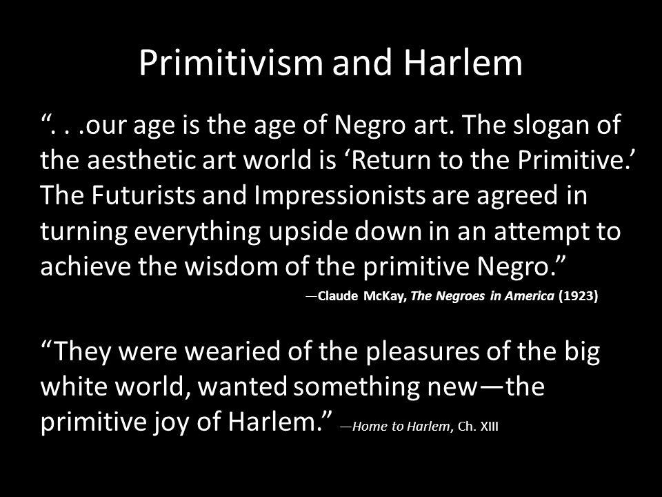 Primitivism and Harlem