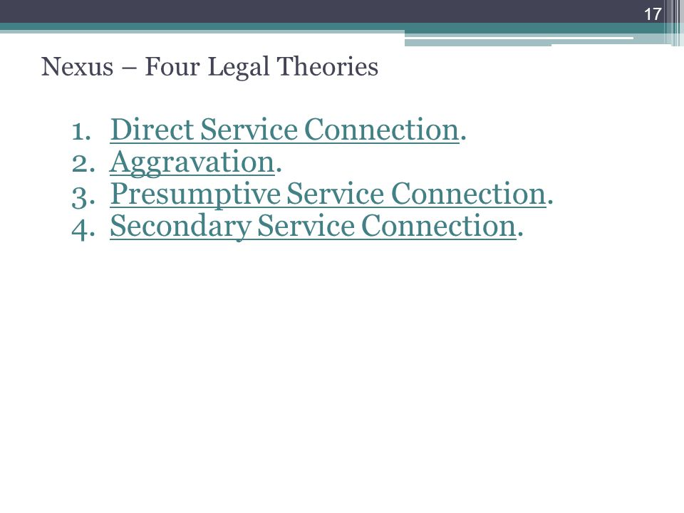 Nexus – Four Legal Theories