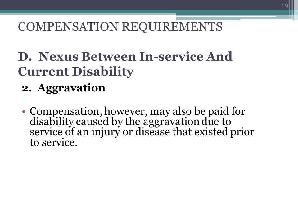 COMPENSATION REQUIREMENTS D