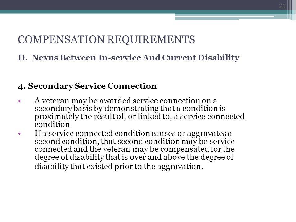COMPENSATION REQUIREMENTS D