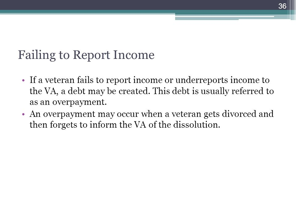 Failing to Report Income