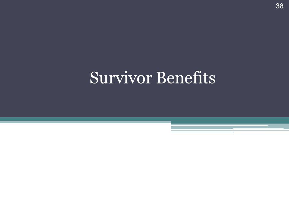 Survivor Benefits