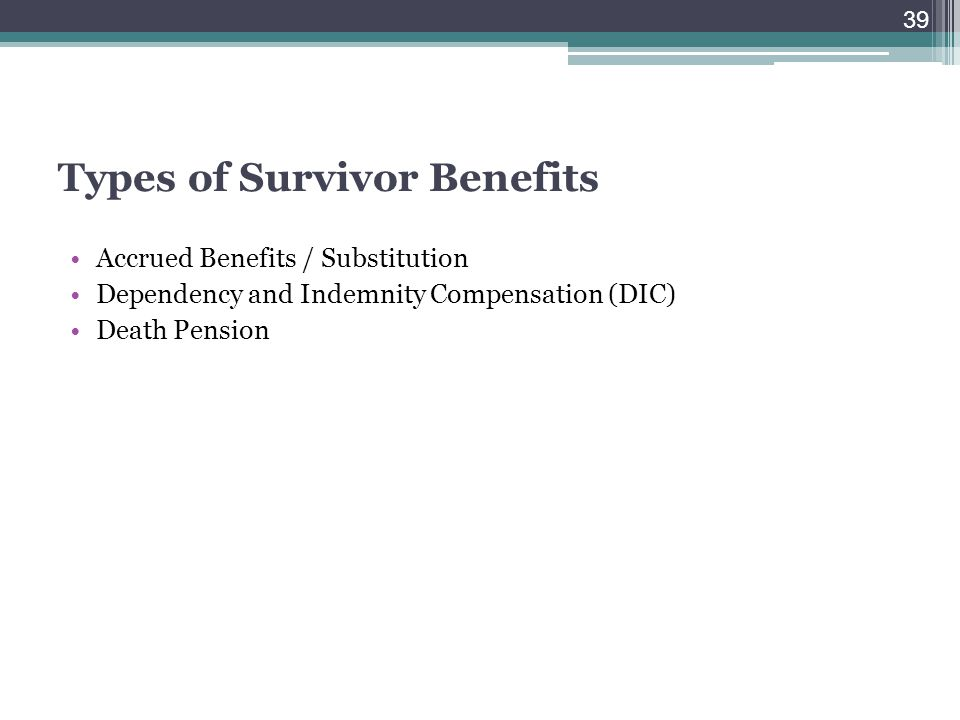 Types of Survivor Benefits
