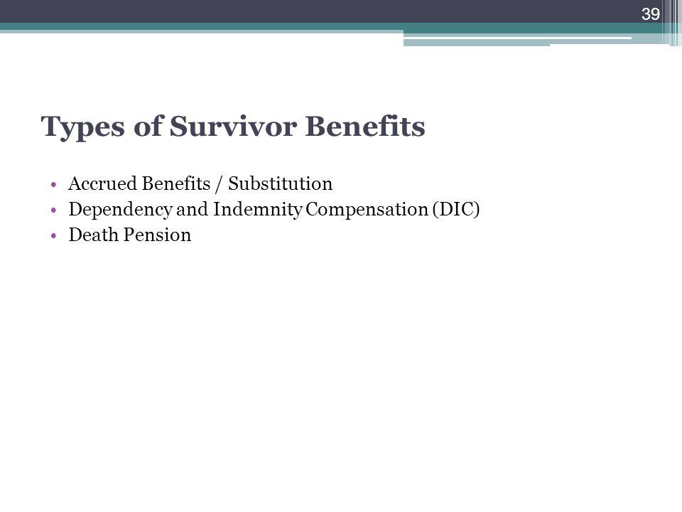 Types of Survivor Benefits
