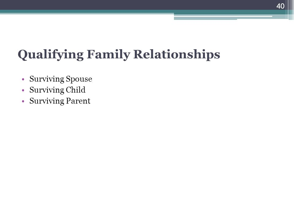 Qualifying Family Relationships