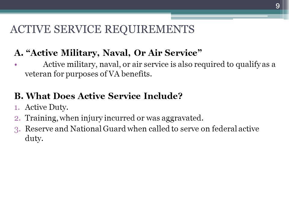 ACTIVE SERVICE REQUIREMENTS
