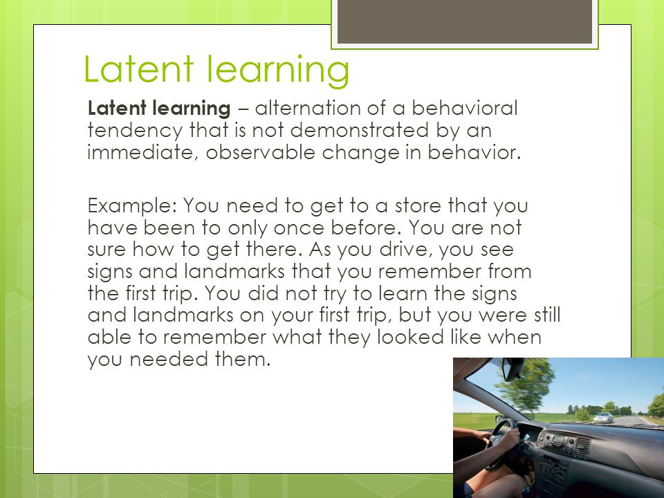 Latent learning