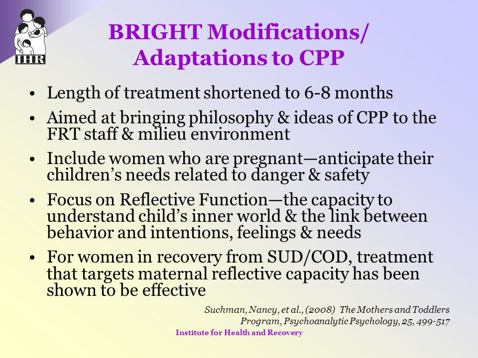 BRIGHT Modifications/ Adaptations to CPP