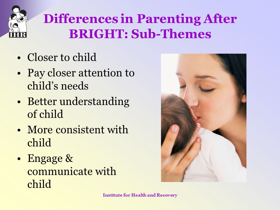 Differences in Parenting After BRIGHT: Sub-Themes