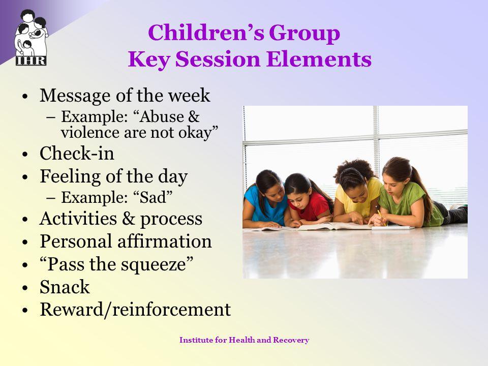 Children's Group Key Session Elements