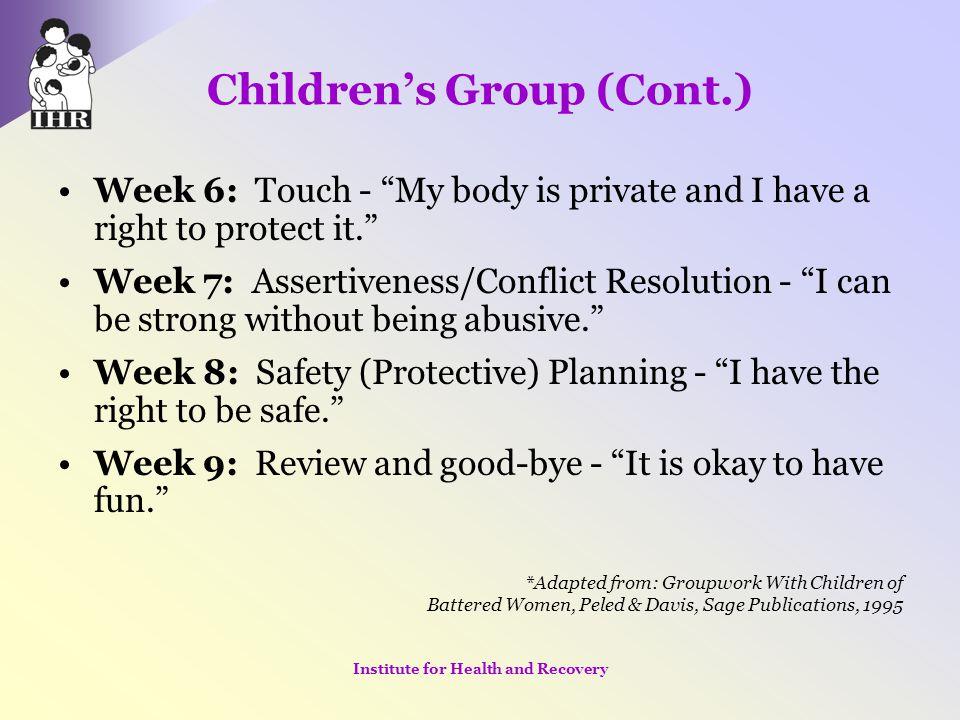 Children's Group (Cont.)