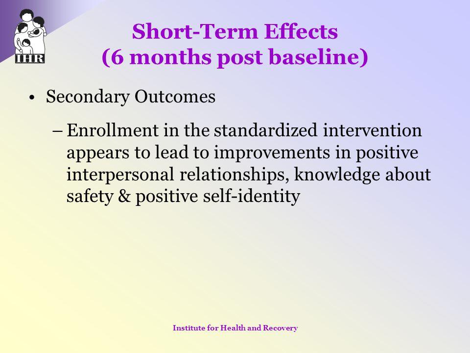Short-Term Effects (6 months post baseline)