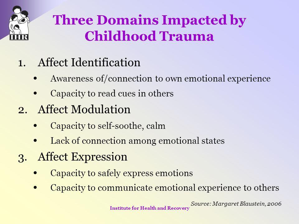 Three Domains Impacted by Childhood Trauma