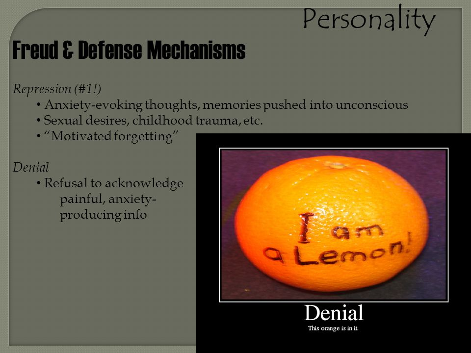 Personality Freud & Defense Mechanisms Repression (#1!)