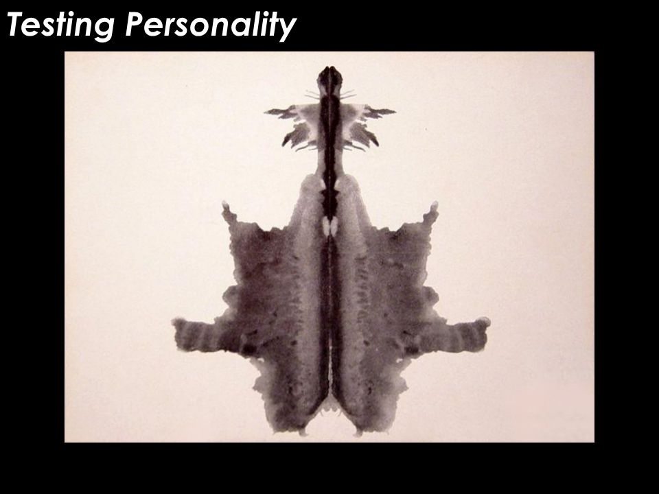 Testing Personality