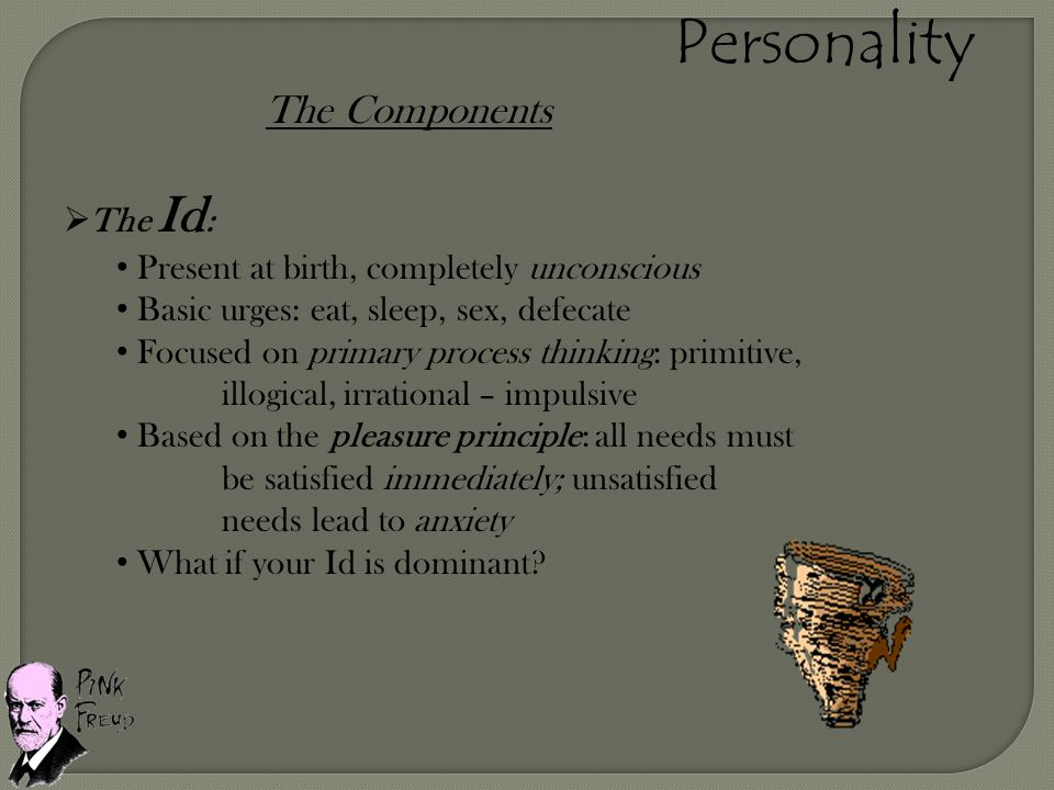 Personality The Components The Id: