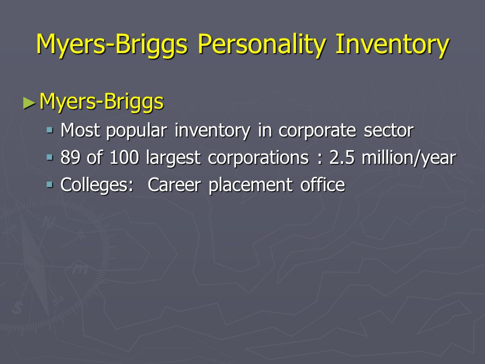 Myers-Briggs Personality Inventory