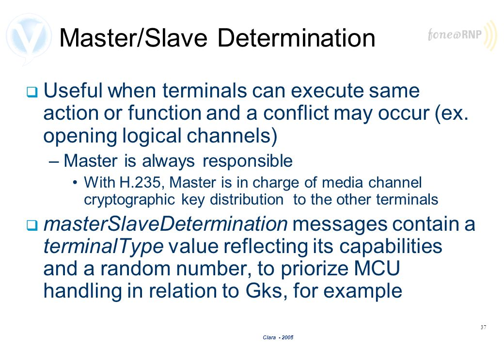 Master/Slave Determination