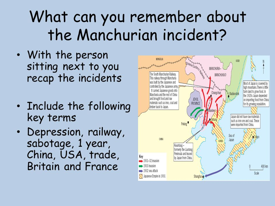 What can you remember about the Manchurian incident
