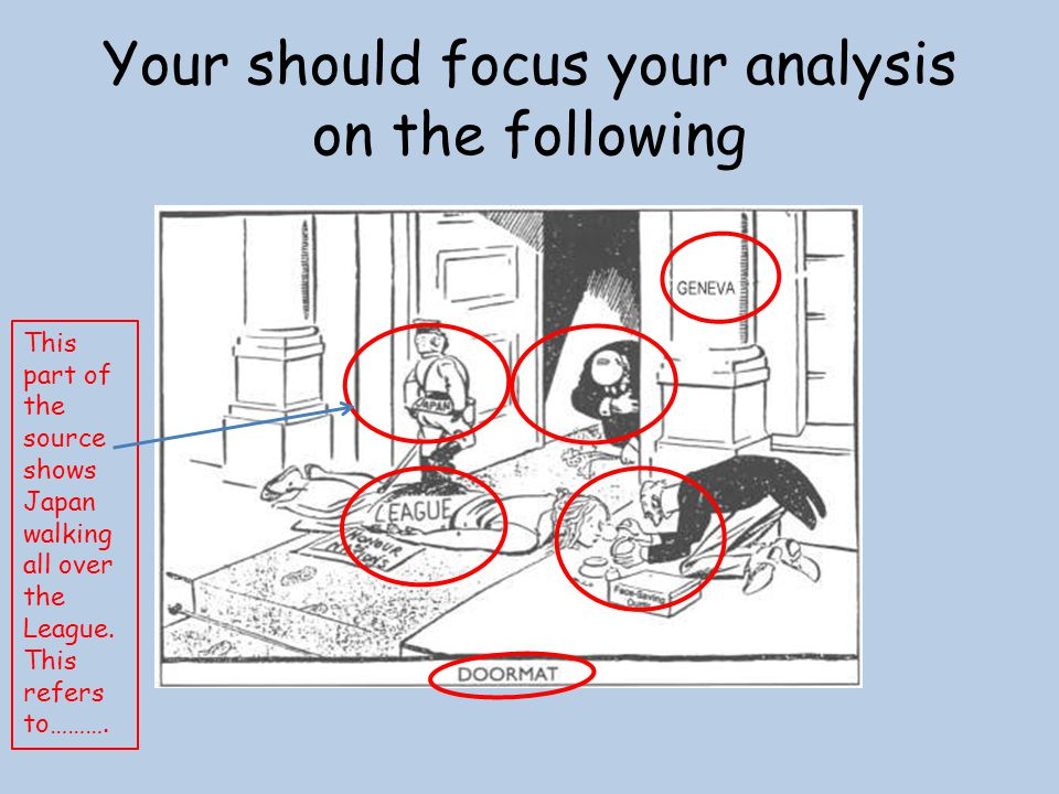 Your should focus your analysis on the following