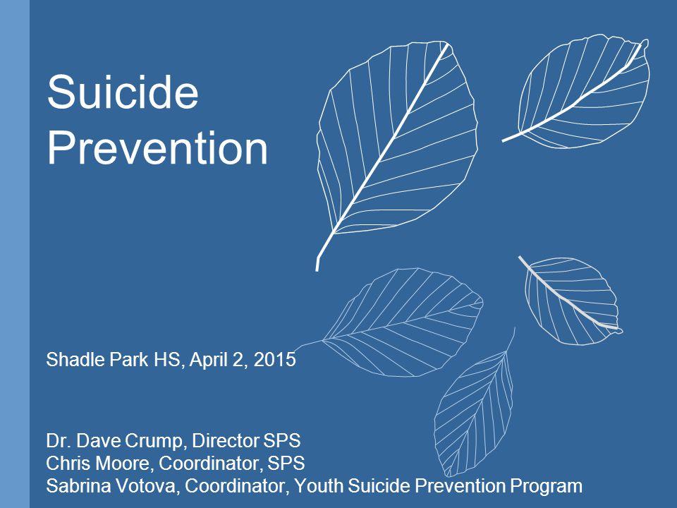 Suicide Prevention Shadle Park HS, April 2, 2015